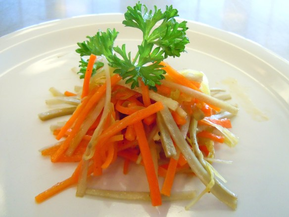 photo kinpira burdock carrots leeks