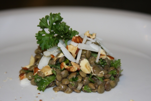 Lentil Salad with Hazelnuts and Goat Gouda © Sassy Sampler 2012