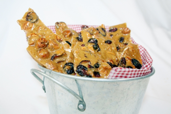 Hazelnut and Cranberry Brittle © Sassy Sampler 2012