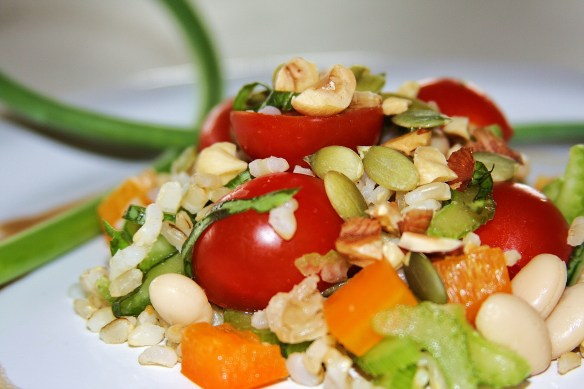 Balsamic Rice and Bean Salad © 2013 Sassy Sampler