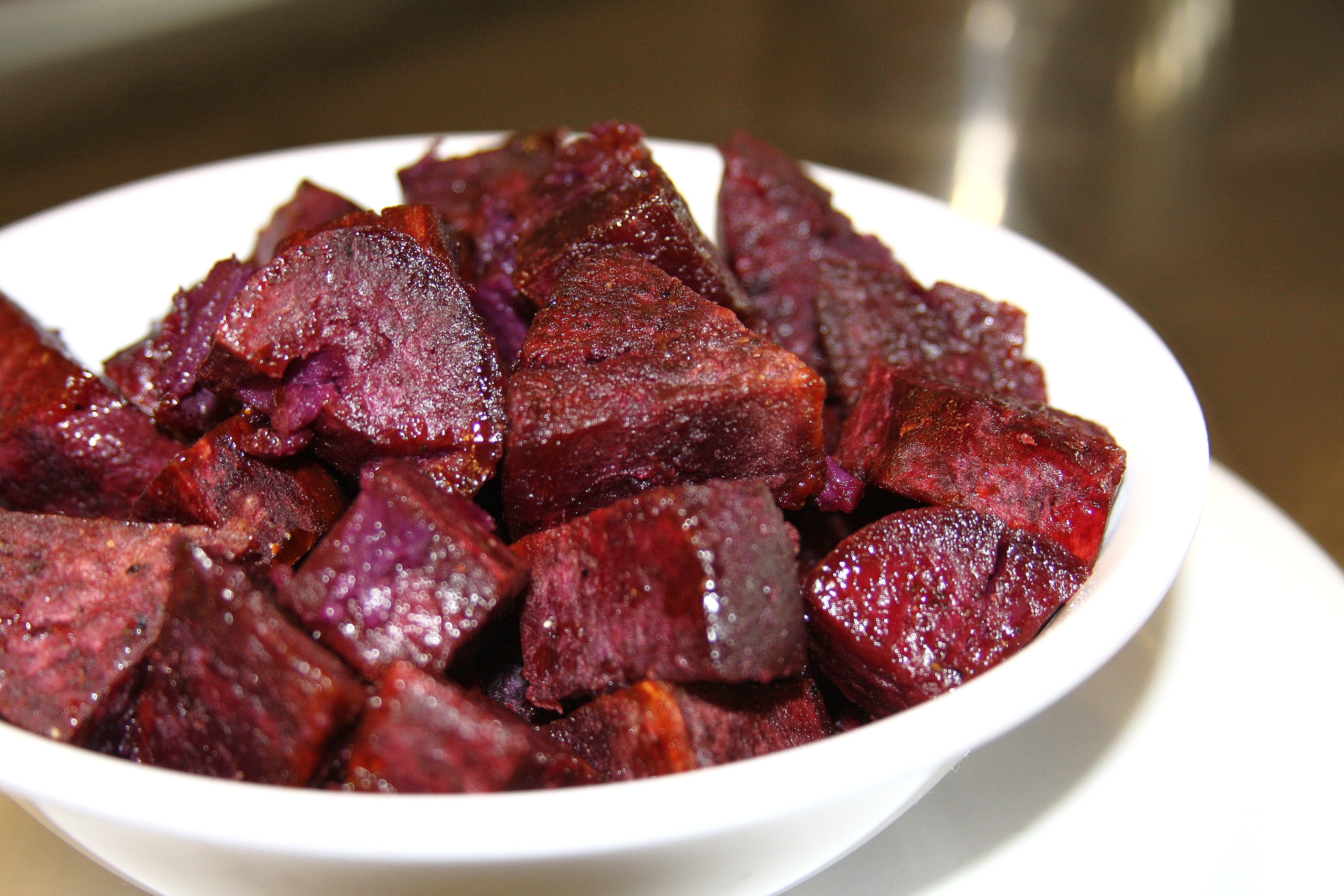 Roasted Purple Sweet Potatoes with Honey Glaze © Sassy Sampler 2013